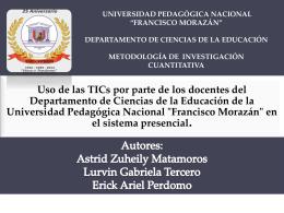 Uso de las TICS - Metodología de Investigación Cuantitativa Pregrado
