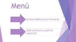 Médicos sin fronteras Colegio La Inmaculada
