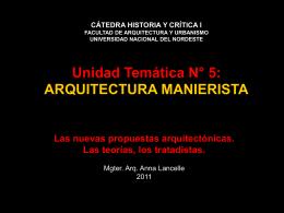 MANIERISMO - Facultad de Arquitectura y Urbanismo