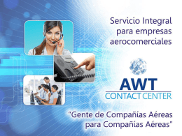 Diapositiva 1 - AWT Air World Travel | Representaciones Aéreas