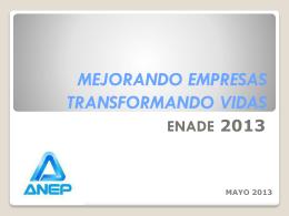 Presentación ENADE 2013