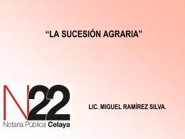 Sucesión Agraria. - Dirección General de Registros Públicos de la