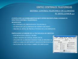 Presentacion Sistema Control De Llamadas Pcsistel Emtec