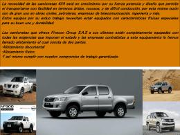 La necesidad de las camionetas 4X4 está en crecimiento por su