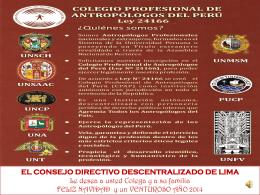 el consejo directivo descentralizado de lima