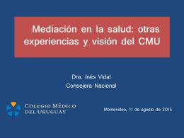Lea aquí la presentación de la Dra. Vidal ante los médicos