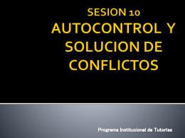 Autocontrol y Solución de Conflictos