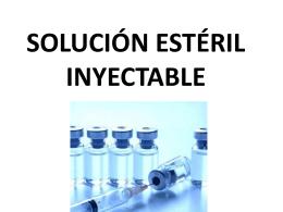 Solución estéril inyectable