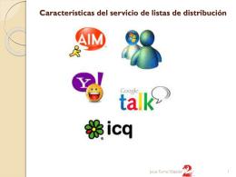 Características del servicio de listas de distribución