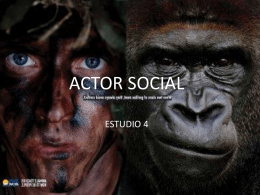 actor social - Design blog