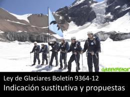 Destrucción de Glaciares en Chile