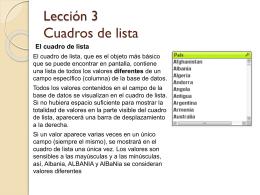 Lección 3