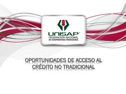 Oportunidad de acceso al crédito