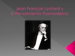 Jean François Lyotard y El Pensamiento