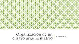 Organización de un ensayo argumentativo
