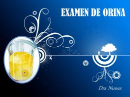 EXAMEN DE ORINA - facultaddemedicina