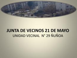 Cuenta Publica - Junta de Vecinos 21 de Mayo