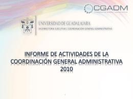 INFORME DE ACTIVIDADES DEL COMITÉ GENERAL DE COMPRAS