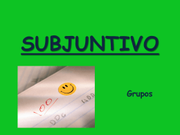 PRESENT SUBJUNCTIVE CONJUGATION