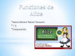 Alice comasndos