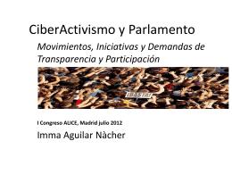 Ciberactivismo y Parlamento. Alice. MAdrid