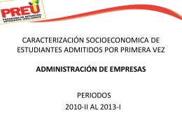 caracterización socioeconomica de estudiantes admitidos