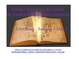 literatura antigua - Colegio Claretiano de Cúcuta