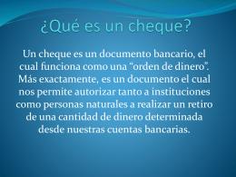 ¿Qué es un cheque? - Colegio Dario Salas