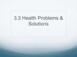 3.3 Health Problems & Solutions