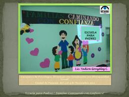 EPP familias Caminando con Confianza Ps. Panama 2012.