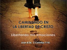 CAMINANDO EN LA LIBERTAD DE CRISTO