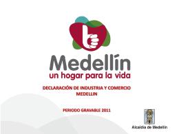DECLARACIÓN DE INDUSTRIA Y COMERCIO MEDELLIN