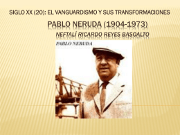 Pablo Neruda WALKING AROUND(1904-1973) PPT