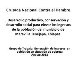 Proyecto Maravilla Tenejapa 6 ago 13