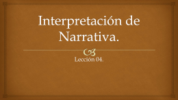 4 Interpretacion de Narrativa