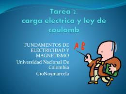 Tarea 2. carga electrica y ley de coulomb