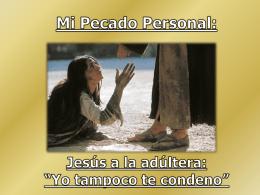 Ejercicio 10 EVC – El pecado personal (Mi
