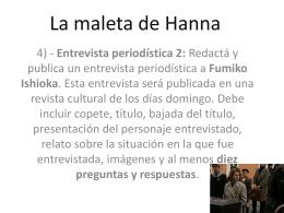 La maleta de Hanna