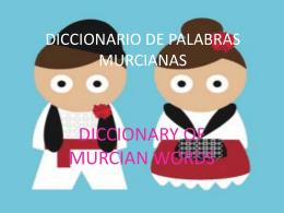 DICCIONARIO DE PALABRAS MURCIANAS
