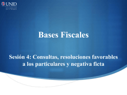 Consultas, resoluciones favorables a los particulares y negativa ficta