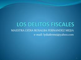 LOS DELITOS FISCALES