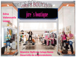 TRABAJO FINAL, BOUTIQUE, AVANCES 1, 2, 3 Y 4