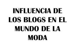 influencia de los blogs en el mundo de la moda