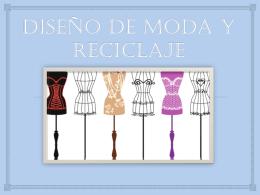 DISEÑO DE MODA Y RECICLAJE