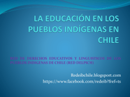 LA EDUCACIÓN INTERCULTURLA EN CHILE Y OTRAS DEMANDAS