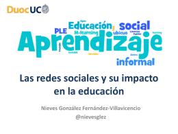 Las redes sociales y su impacto en la educación
