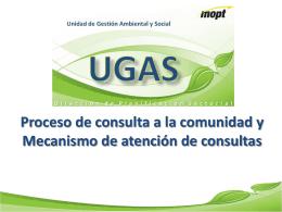 Presentación Proceso de consulta a la comunidad y