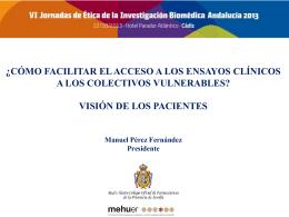 ¿cómo facilitar el acceso de colectivos vulnerables a los ensayos