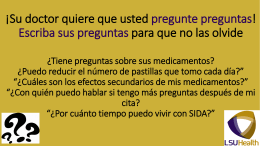 Es importante ser honesto - LSUHSC Alcohol Research Center