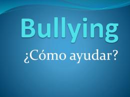 bullying cómo ayudar